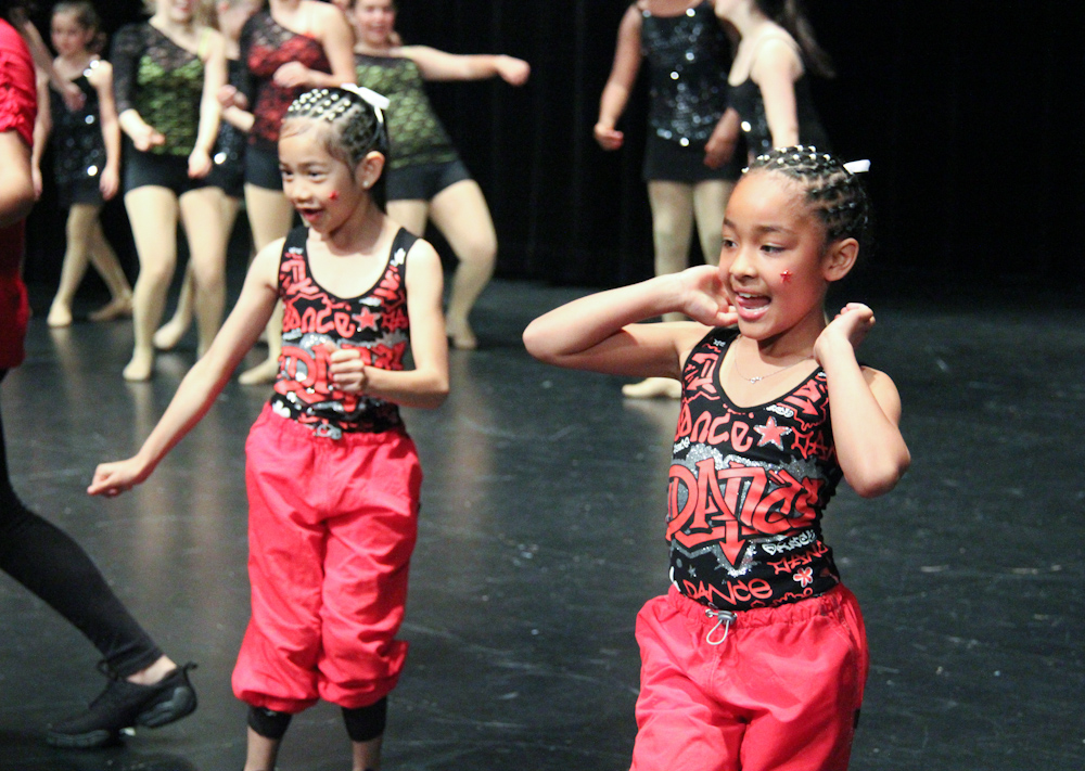 The Bret Harte dance team freestyles during break at the Aragon Black Student Union dance competition.