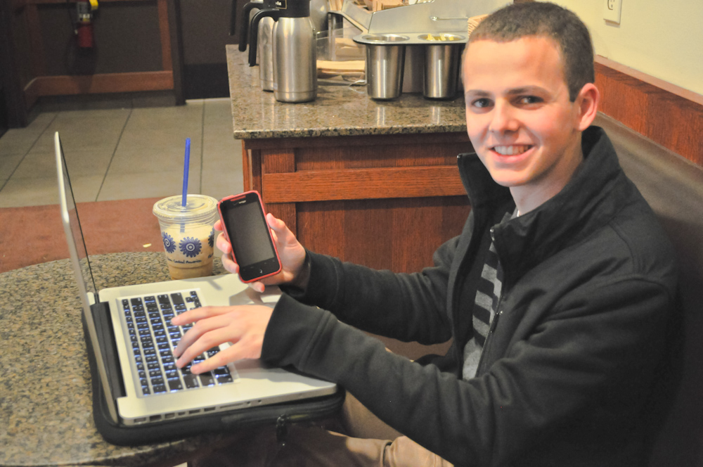 Burlingame High School student and creator of the new SMUHSD app, Sebastian Shanus.