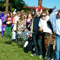 Students show off costumes at annual Halloween rally
