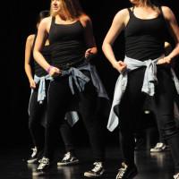 The San Mateo High School Dance Team danced to a medley of pop songs. Their fierce dance moves won them third place. (Alex Furuya)