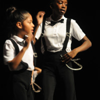 The Bret Harte Dance team performed to hip-hop and pop songs. The group had the most performers and won the Spirit Award. (Alex Furuya)