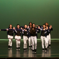 Dancing to various hip-hop songs, Mercy High School's dance team scored second place in the competition. (Nicole Wallace)