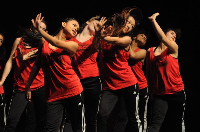 Coming all the way from San Jose, the Willow Glen High School's dance team performed to hip-hop and pop songs. The dance team scored first place. (Alex Furuya)